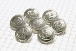 Round Anchor Buttons, Silver, 15mm (pack of 7)
