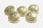 Round Anchor Buttons, Gold, 17.5mm (pack of 5)