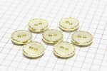 Round Crimp Edge Buttons, Gold, 12.5mm (pack of 7)