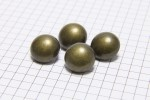 Round Half Ball Buttons, Bronze 15mm (pack of 4)