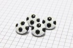 Football Buttons, Black and White, 13mm (pack of 4)