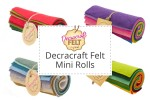 "Decracraft Felt Mini Rolls - 10 Pieces - 15cm Felt Squares (6"")"
