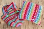 Attic24 - Jolly Chunky Bag and Rainbow Raindrop Cushion (Stylecraft Yarn Pack with 8 Buttons)