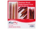 KnitPro Double Point Knitting Needles - Symfonie Wood - 15cm Socks Kit