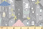 Lewis and Irene - Fairy Lights - Fairy Houses - Grey with Glow-in-the-Dark (A306.1)