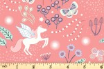 Lewis and Irene - Fairy Nights - Unicorn Meadow - Peachy Pink with Glow in the Dark (A405.2)