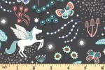 Lewis and Irene - Fairy Nights - Unicorn Meadow - Black with Glow in the Dark (A405.3)