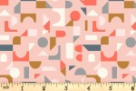 Lewis and Irene - Forme - Scattered Geometric - Blush Pink (A412.2)