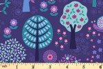 Lewis and Irene - Flower Child - Groovy Forest - Dark Blue (A434.3)