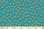 Lewis and Irene - Flower Child - Little Flowers - Dark Turquoise (A436.2)
