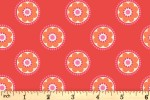 Lewis and Irene - Flower Child - Funky Daisy - Red (A437.3)