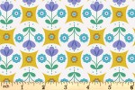 Lewis and Irene - Flower Child - Fab Floral Circles - Yellow (A438.1)