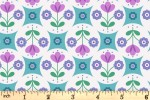 Lewis and Irene - Flower Child - Fab Floral Circles - Blue (A438.2)
