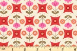 Lewis and Irene - Flower Child - Fab Floral Circles - Red (A438.3)