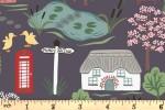 Lewis and Irene - The Village Pond - Village Scene - Dark Grey (A447.3)