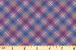 Lewis and Irene - Iona - Iona Check - Purple with Copper Metallic (A480.3)