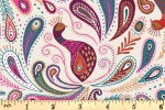 Lewis and Irene - Soraya - Paisley Peacock - Cream (A489.1)
