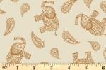 Lewis and Irene - Soraya - Paisley Elephant - Cream (A492.1)