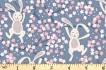 Lewis and Irene - Bunny Hop - Swinging Bunnies - Denim Blue (A526.3)