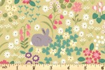 Lewis and Irene - Bunny Hop - Bunny and Chick Floral - Spring Yellow (A530.1)