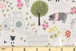 Lewis and Irene - Piggy Tales - Farmyard - Dark Cream (A531.1)