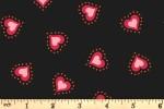 Lewis and Irene - Little Matryoshka - Hearts - Black (A568.3)