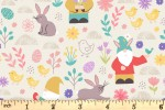 Lewis and Irene - Spring Treats - Spring Gnomes - Cream (A588.1)