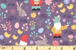 Lewis and Irene - Spring Treats - Spring Gnomes - Dark Lavender (A588.2)