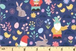 Lewis and Irene - Spring Treats - Spring Gnomes - Dark Blue (A588.3)