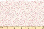 Lewis and Irene - Spring Treats - Mini Heart Floral - Pink on Cream (A589.1)