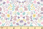 Lewis and Irene - Spring Treats - Mirrored Bunny and Chicks - Cream (A591.1)