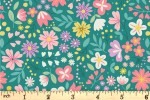 Lewis and Irene - Spring Treats - Spring Floral - Green (A592.2)