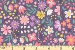 Lewis and Irene - Spring Treats - Spring Floral - Dark Violet (A592.3)