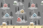 Lewis and Irene - Snow Day - Snow Day Houses - Grey with White Pearl (C36.3)