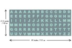 Lewis and Irene - Christmas Glow - Glow Letters - Blue with Glow in the Dark (C49.3)