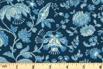 Liberty Fabrics - The Summer House - Victoria Floral - Blue (04775669/X)