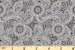 Liberty Fabrics - The Emporium - Paisley Meadow - Grey (04775913/B)