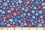 Liberty Fabrics - Carnaby - Bloomsbury Blossom - Blue (04775949/A)