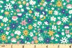 Liberty Fabrics - Carnaby - Bloomsbury Blossom - Sea Green (04775949/C)