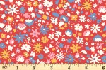 Liberty Fabrics - Carnaby - Bloomsbury Blossom - Red (04775949/D)