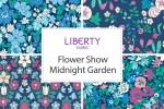 Liberty Fabrics - Flower Show Midnight Garden Collection