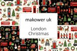Makower - London Christmas Collection