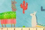QT Fabrics - Alpaca Picnic - Alpacas and Cactus - Aqua (26541Q)