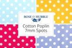 Rose & Hubble - Cotton Poplin Spots - 7mm