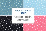 Rose & Hubble - Cotton Poplin Stars - Ditsy