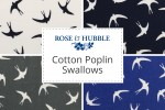 Rose & Hubble - Cotton Poplin Swallows