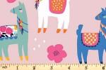 Riley Blake - Novelty - Llamas - Pink (C9009)