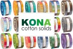 "Kona Cotton Solids - Roll Ups (2.5"" strips)"