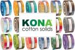 "Kona Cotton Solids - Roll Ups (2.5"" strips)"