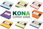 "Kona Cotton Solids - Charm Packs (5"" squares)"